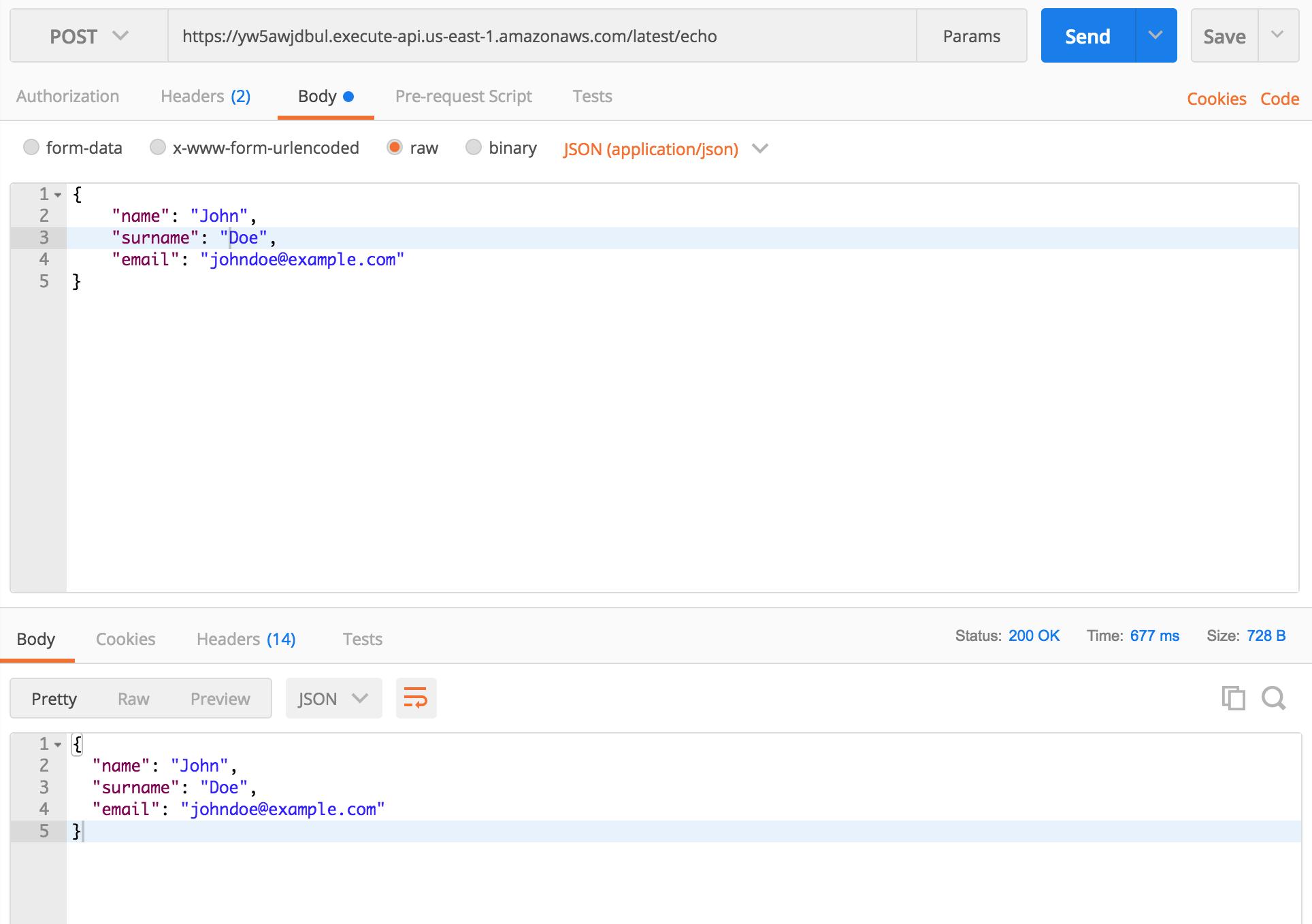 Building serverless API with Claudia API Builder